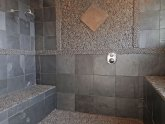 Natural stone shower tile