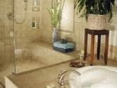 Natural stone tile shower care