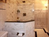 Natural stone tiles for bathrooms