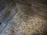 Pebble stone tile for shower floor