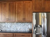 Slate tiles for kitchen backsplash