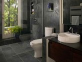 Small stone tiles bathroom