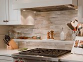 Stone backsplash tiles