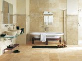 Tumbled stone tiles for bathroom