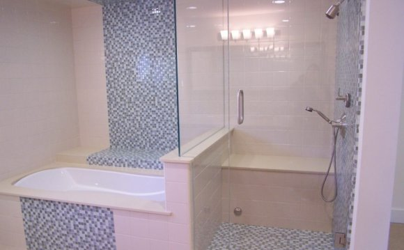 White stone tiles bathroom