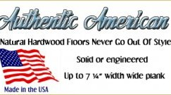American Made hardwood flooring