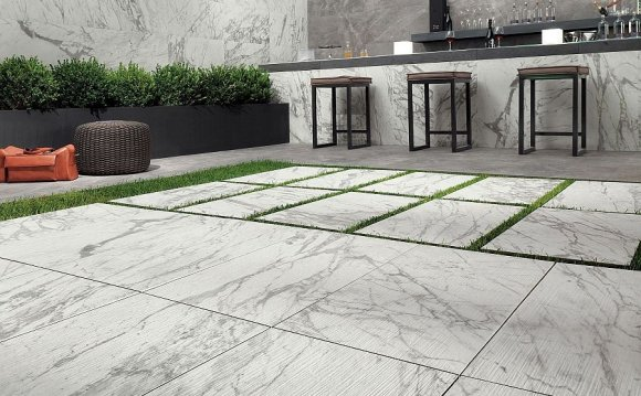 Natural stone tiles outdoor