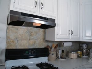 Faux rock Backsplash