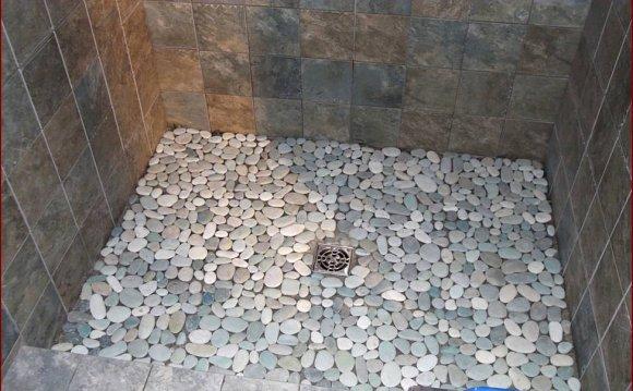 Pebble Tile Shower Floor Lowes