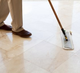 Sweep floors day-to-day